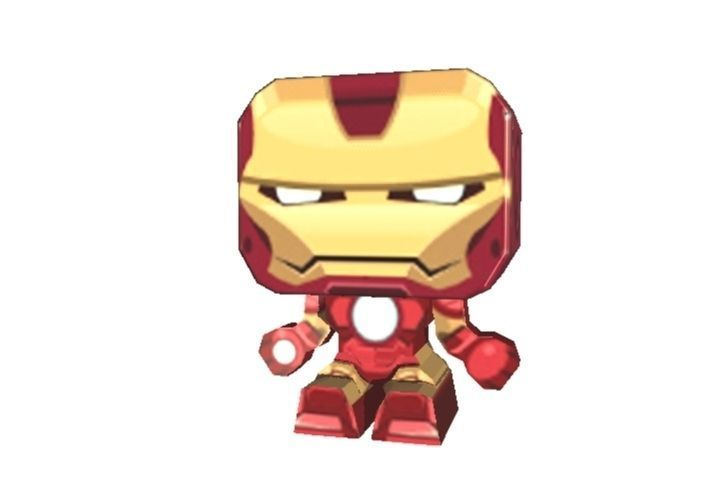iron man 3d printable paper cut out template 3d model stl 3