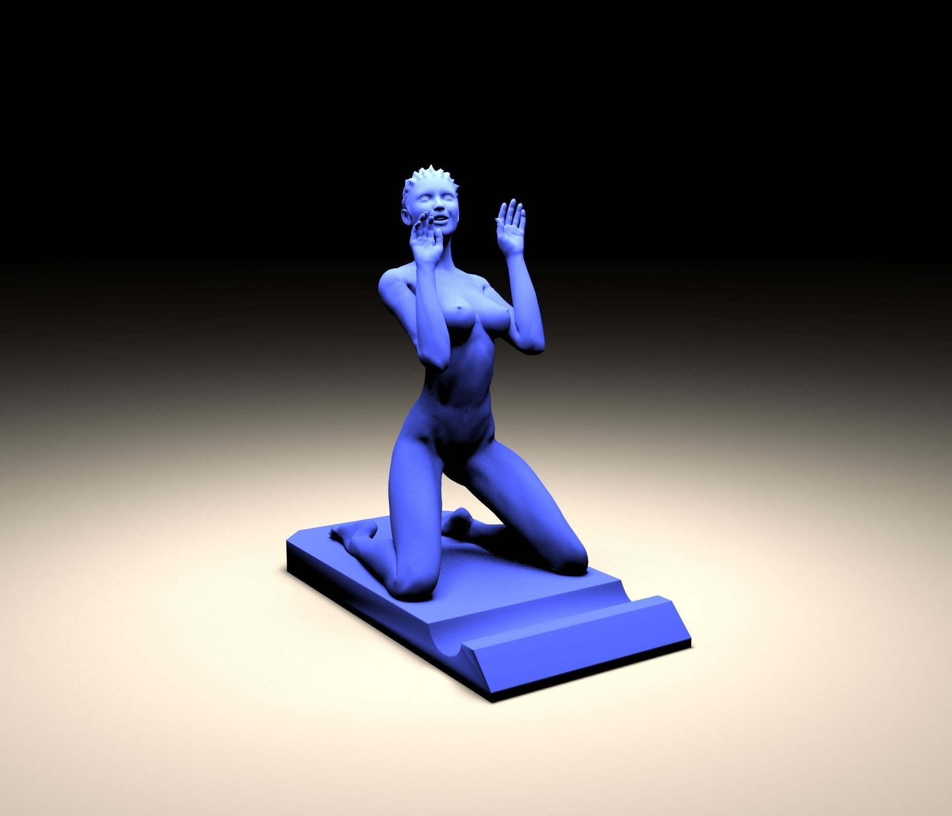 Stand With Girl 3d Model 3d Printable Obj Stl Cgtrader Com