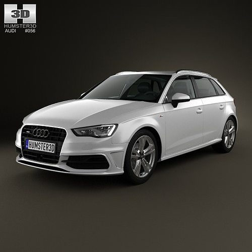 3d audi a3 sportback s line 2013 cgtrader. Black Bedroom Furniture Sets. Home Design Ideas
