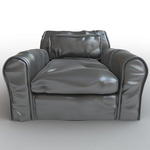 Soft Leather Armchair 3d Model Max Obj Mtl 3ds Fbx 1 ...