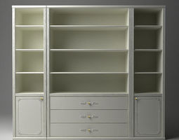 display and storage cabinet 3d model