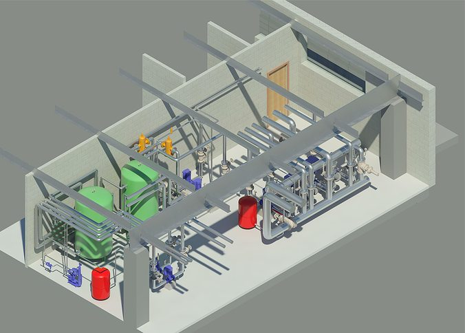 cold source of airport revit model 3d model rfa rvt 1