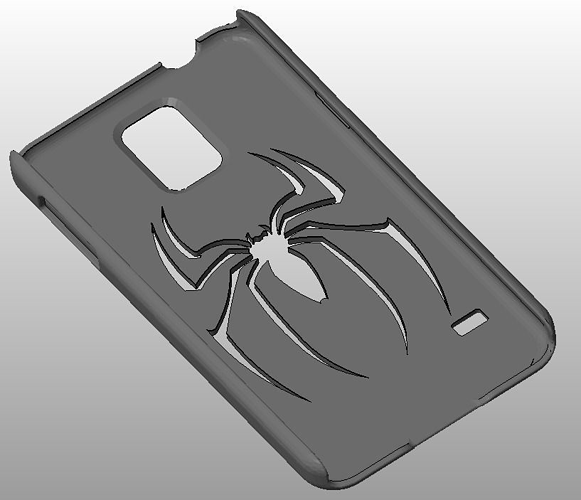 galaxy s5 with spiderman logo 3d model stl 1