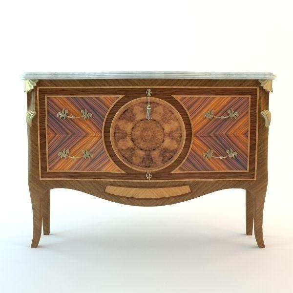 ... antique buffet cabinet 2 3d model max 3ds fbx unitypackage prefab 3 ... - Antique Buffet Cabinet 2 3D CGTrader