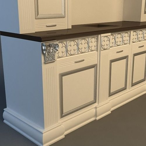 Product collection Kitchen Cabinets and Appliances 3D model