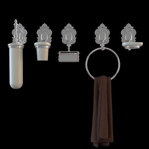 Faucet and bathroom accessory collection 3d model max obj for 3d bathroom accessories