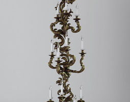 3D Candelabrum Sconce Light 3