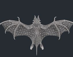 vampire bat monster 2 3d model low-poly max obj fbx