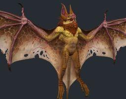 vampire bat monster 3 3d model low-poly max obj fbx