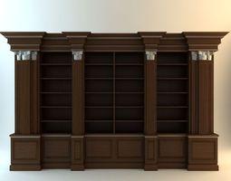 Dark Wood Cabinet 2 3D model