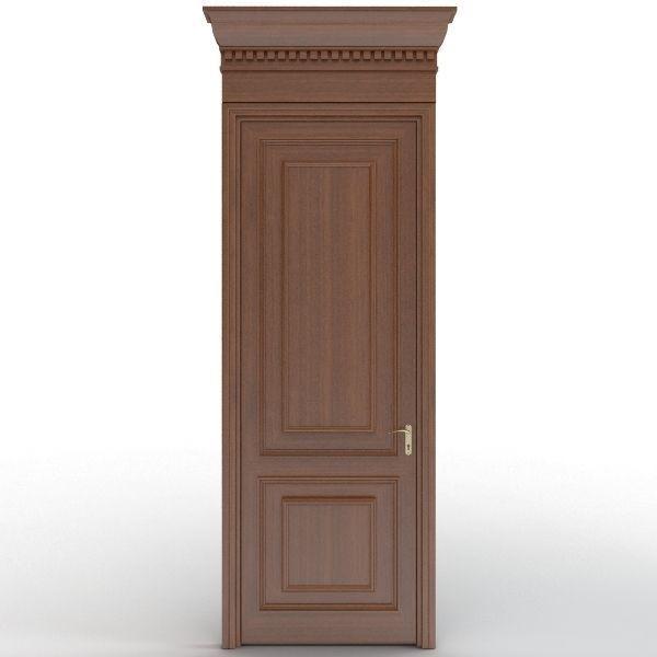 Wooden door 8 3d model max obj 3ds fbx mtl for Door 3d model
