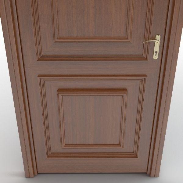 Wooden door 8 3d model max obj 3ds fbx for Door 3d model