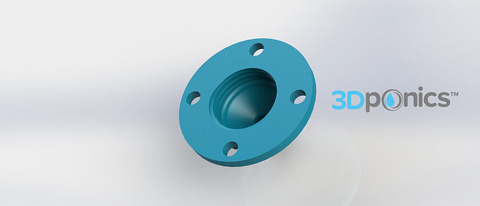 4-Hole Drip Nozzle - 3-8 Inch 3Dponics Drip Hydroponics