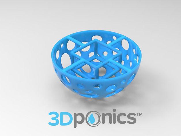 grow media basket v1 - 3dponics drip hydroponics 3d model obj mtl stl sldprt sldasm slddrw 1