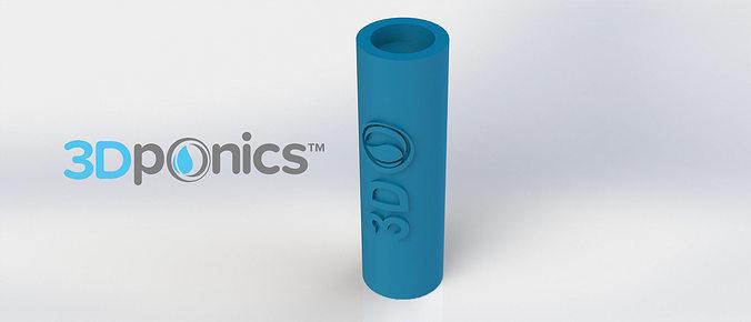 silencer -3dponics drip hydroponics 3d model obj mtl stl sldprt sldasm slddrw 1