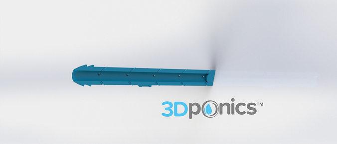 sprinkler for roots 3-8 inch - 3dponics drip hydroponics 3d model obj mtl stl sldprt sldasm slddrw 1