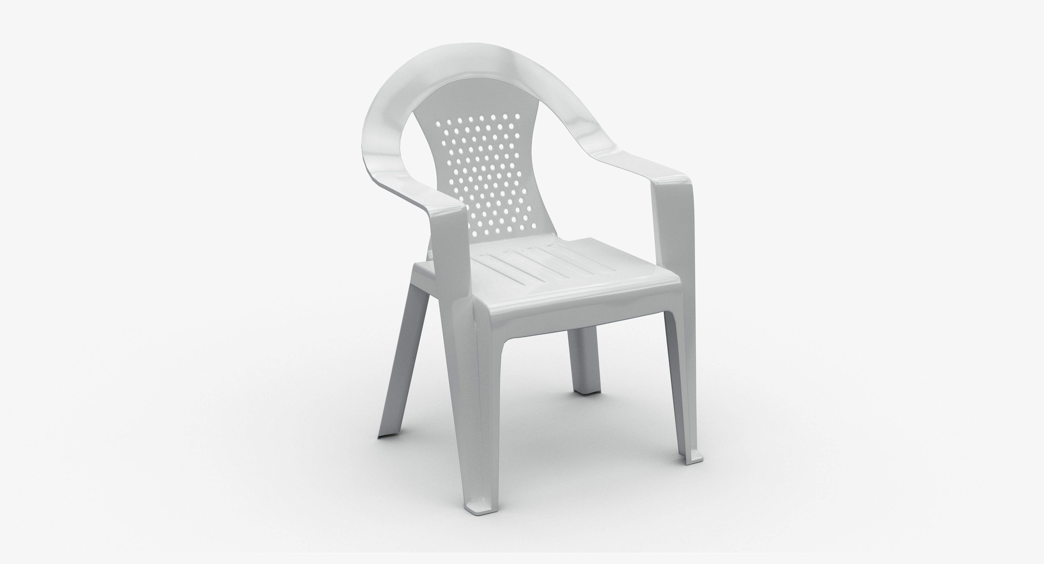 Plastic Stackable Chair 3d Model