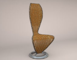 Cappellini Wicker S Chair 3D model