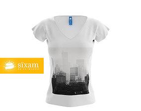 Women V-Neck Shirt 3D