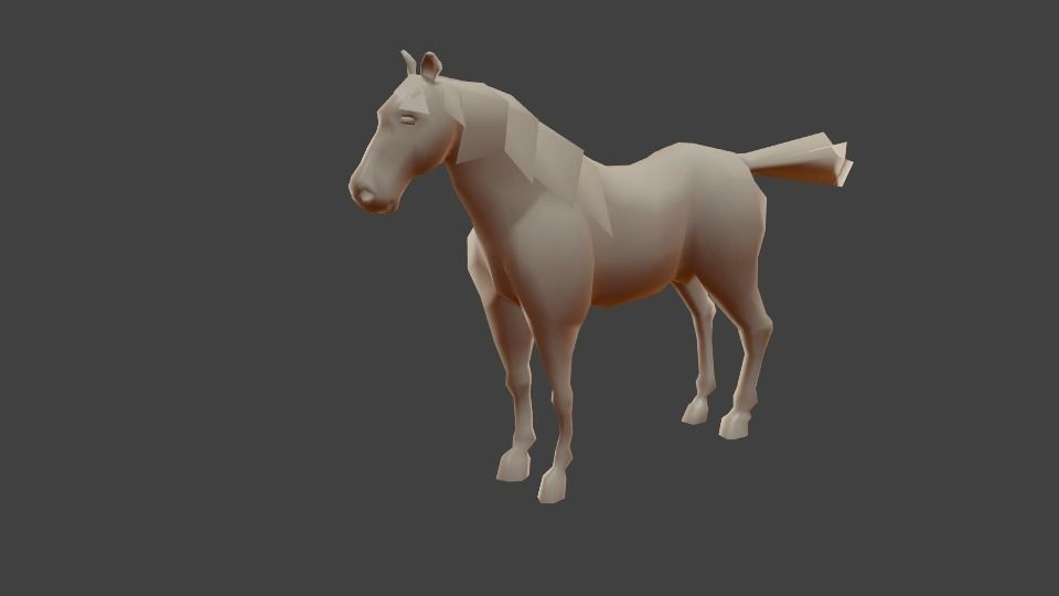 Low Poly Horse Model 3d Model Low Poly Blend 1