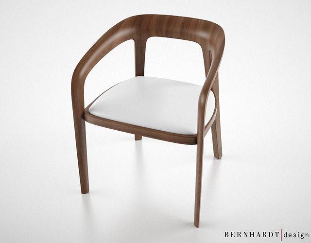 Bernhardt Design Corvo side chair 3D model CGTrader