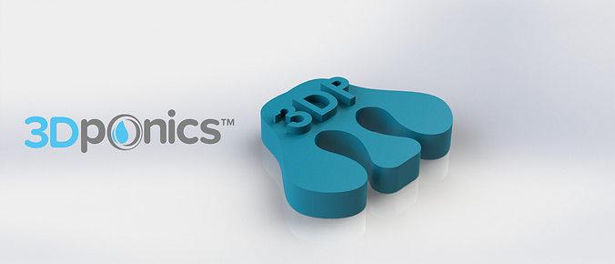 tube separator - 3dponics open-source gardening 3d model obj mtl stl sldprt sldasm slddrw 1