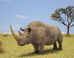 3d model woolly rhinoceros