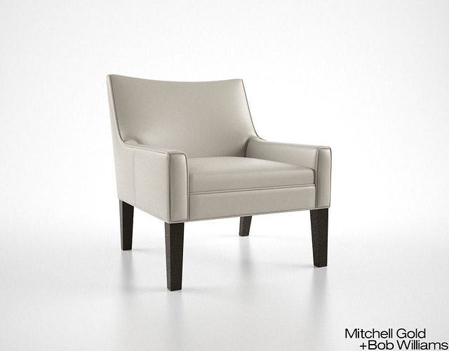 Merveilleux Mitchell Gold And Bob Williams Henri Chair Leather 3D Model MAX OBJ FBX MTL