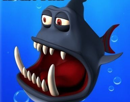 3D asset Angry Toon Fish