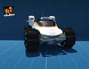 3D asset Scifi Buggy