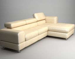 corner sofa with chaise 2 3d
