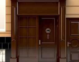 3D model Entrance to a government building