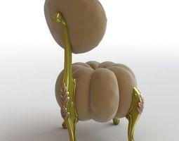 Baroque Chair pumpkin 3D
