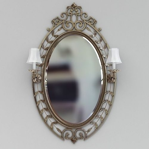 Beautiful wall mirror 3d model cgtrader for Mirror 3d model
