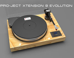 VR / AR ready pro-ject xtension 9 evolution 3d model