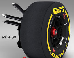 game-ready 3d asset mp4 30 front suspension