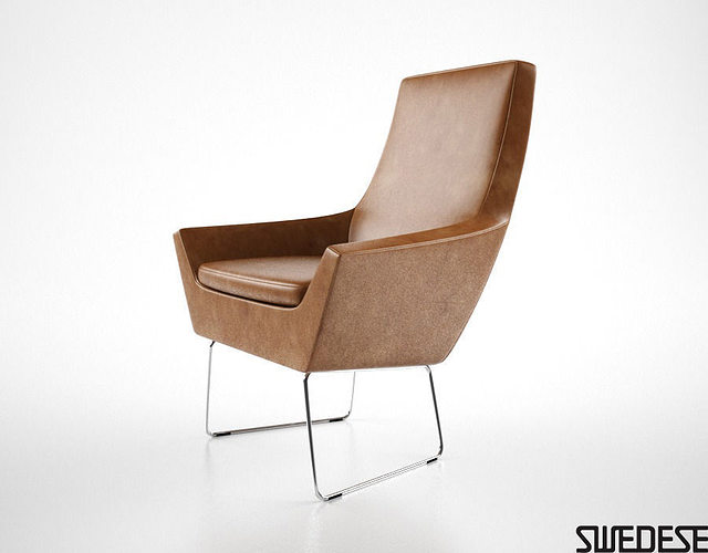 Swedese Happy Easy Chair 3D model CGTrader