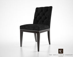 the sofa and chair company lucas dining chair 3d