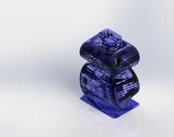 3D model vass for flower