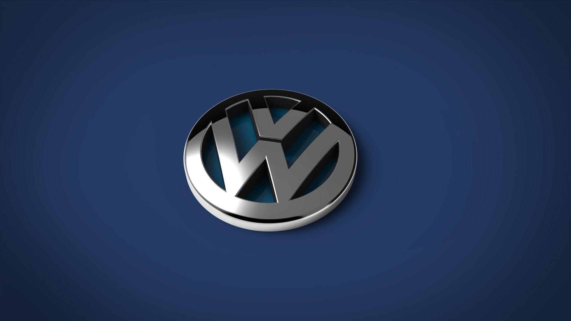 Volkswagen logo free 3d model max 3ds stl sldprt sldasm Free 3d