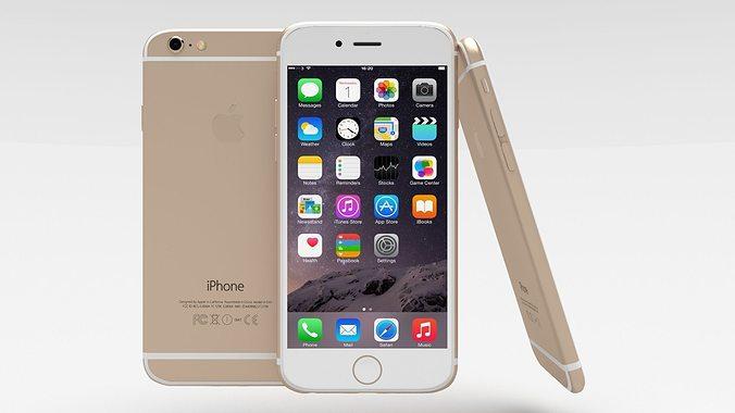 iphone 6 gold 3d model obj mtl blend 1