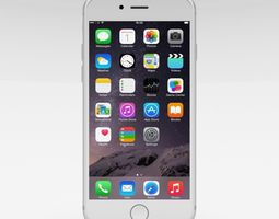 iphone 6 silver 3d model low-poly obj blend