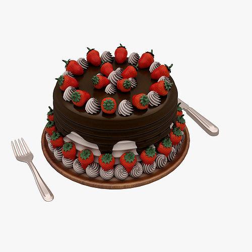 cake 001 3d model max obj mtl fbx 1