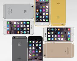 iphone 6 all pack 3d model low-poly obj blend