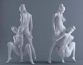 Two naked women 3D print model