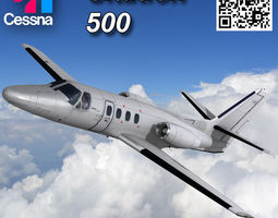 Cessna 500 Citation I 3D asset