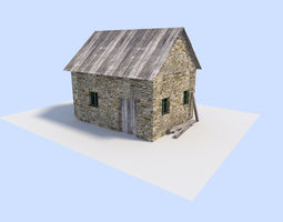 3D asset old house 2