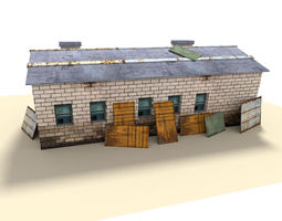 indusrtial building 3D asset
