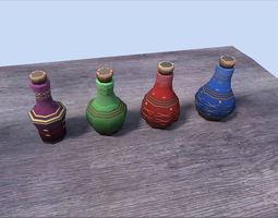 potions pack 3D asset