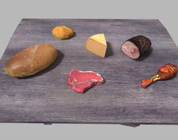 low poly food pack 3D model